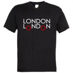 Мужская футболка  с V-образным вырезом London - FatLine