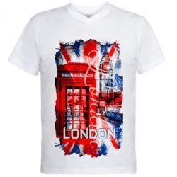Купить Мужская футболка с V-образным вырезом Лондон, FatLine