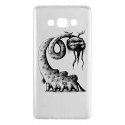 Чехол для Samsung A7 2015 Long-necked Mustachioed Monster