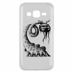 Чехол для Samsung J2 2015 Long-necked Mustachioed Monster
