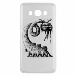 Чехол для Samsung J5 2016 Long-necked Mustachioed Monster