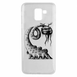 Чехол для Samsung J6 Long-necked Mustachioed Monster