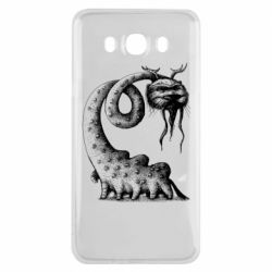 Чехол для Samsung J7 2016 Long-necked Mustachioed Monster
