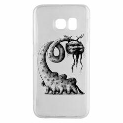 Чехол для Samsung S6 EDGE Long-necked Mustachioed Monster