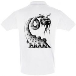 Мужская футболка поло Long-necked Mustachioed Monster