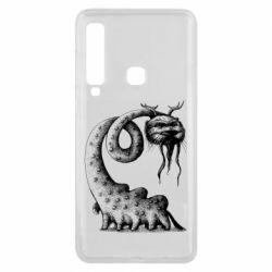 Чехол для Samsung A9 2018 Long-necked Mustachioed Monster