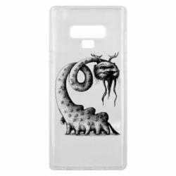 Чехол для Samsung Note 9 Long-necked Mustachioed Monster
