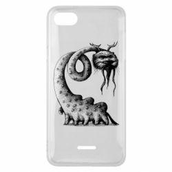 Чехол для Xiaomi Redmi 6A Long-necked Mustachioed Monster