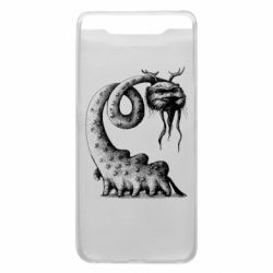 Чехол для Samsung A80 Long-necked Mustachioed Monster