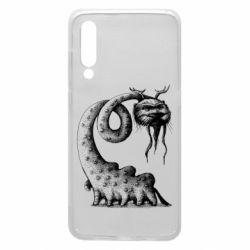 Чехол для Xiaomi Mi9 Long-necked Mustachioed Monster