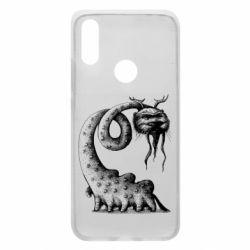Чехол для Xiaomi Redmi 7 Long-necked Mustachioed Monster