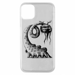 Чехол для iPhone 11 Pro Long-necked Mustachioed Monster
