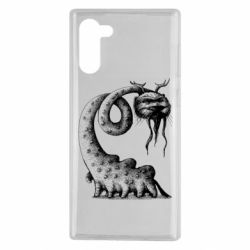 Чехол для Samsung Note 10 Long-necked Mustachioed Monster