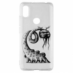 Чехол для Xiaomi Redmi S2 Long-necked Mustachioed Monster