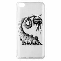Чехол для Xiaomi Redmi Go Long-necked Mustachioed Monster