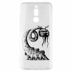 Чехол для Xiaomi Redmi 8 Long-necked Mustachioed Monster