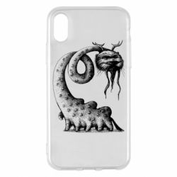 Чехол для iPhone X/Xs Long-necked Mustachioed Monster