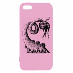 Чехол для iPhone5/5S/SE Long-necked Mustachioed Monster