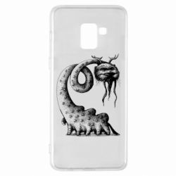 Чехол для Samsung A8+ 2018 Long-necked Mustachioed Monster