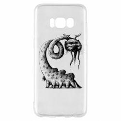 Чехол для Samsung S8 Long-necked Mustachioed Monster