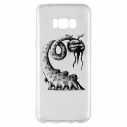 Чехол для Samsung S8+ Long-necked Mustachioed Monster