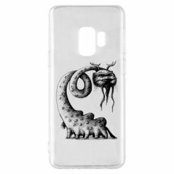 Чехол для Samsung S9 Long-necked Mustachioed Monster