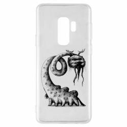 Чехол для Samsung S9+ Long-necked Mustachioed Monster