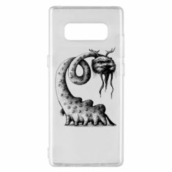 Чехол для Samsung Note 8 Long-necked Mustachioed Monster