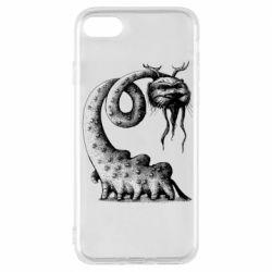 Чехол для iPhone 8 Long-necked Mustachioed Monster