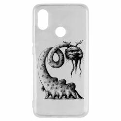 Чехол для Xiaomi Mi8 Long-necked Mustachioed Monster