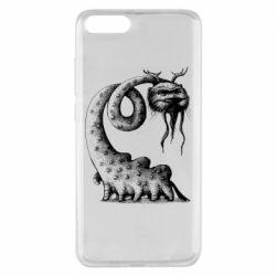 Чехол для Xiaomi Mi Note 3 Long-necked Mustachioed Monster