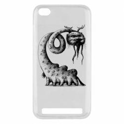 Чехол для Xiaomi Redmi 5A Long-necked Mustachioed Monster