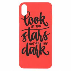 Чохол для iPhone X/Xs Look at the stars not at the dark