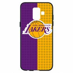 Купить Masha, Чехол для Samsung A6 2018 Los Angeles Lakers and stars, FatLine