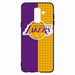 Купить Masha, Чехол для Samsung A6+ 2018 Los Angeles Lakers and stars, FatLine