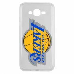 Чехол для Samsung J7 2015 Los Angeles Lakers