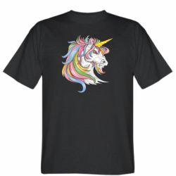 Чоловіча футболка Кінь з кольоровою гривою