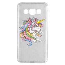 Чохол для Samsung A3 2015 Кінь з кольоровою гривою
