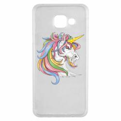 Чохол для Samsung A3 2016 Кінь з кольоровою гривою