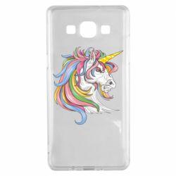 Чохол для Samsung A5 2015 Кінь з кольоровою гривою