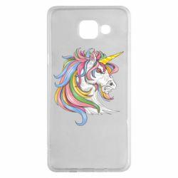 Чохол для Samsung A5 2016 Кінь з кольоровою гривою