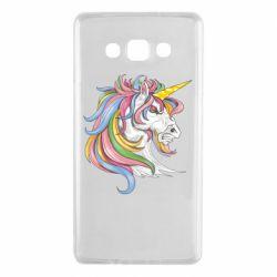 Чохол для Samsung A7 2015 Кінь з кольоровою гривою