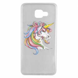 Чохол для Samsung A7 2016 Кінь з кольоровою гривою