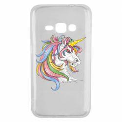 Чохол для Samsung J1 2016 Кінь з кольоровою гривою
