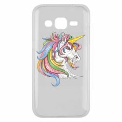 Чохол для Samsung J2 2015 Кінь з кольоровою гривою