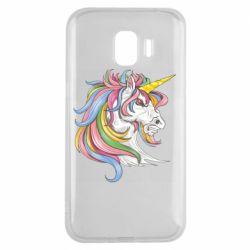 Чохол для Samsung J2 2018 Кінь з кольоровою гривою
