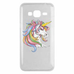 Чохол для Samsung J3 2016 Кінь з кольоровою гривою
