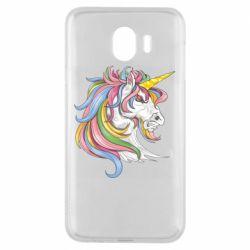 Чохол для Samsung J4 Кінь з кольоровою гривою