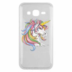Чохол для Samsung J5 2015 Кінь з кольоровою гривою