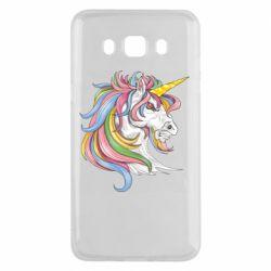 Чохол для Samsung J5 2016 Кінь з кольоровою гривою